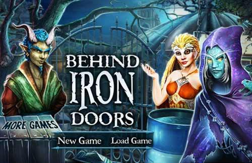 Image Behind Iron Doors